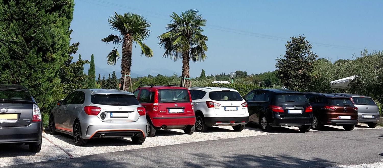 Privatparkplatz Hotel Panoramica Salò am Gardasee